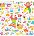 colorful purim pattern vector image vector image