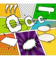 Comic funny background vector image