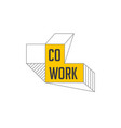 coworking space networking zone logo and icon vector image