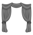 Curtain on stage icon gray monochrome style vector image vector image