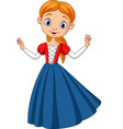cute beautiful princess isolated vector image vector image