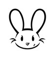 cute bunny face on white vector image