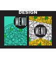 Design menu with doodle pizza Sketch pizza vector image vector image