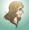 Drawing of beautiful girl face vector image vector image