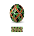 Easter egg with ornament vector image vector image
