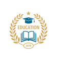 education badge logo design university high vector image