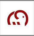 elephant logo monoline art vector image vector image