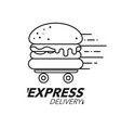 express delivery concept burger or fast food vector image
