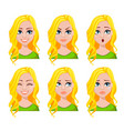 face expressions of student woman vector image