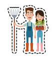 farmer cartoon icon imag vector image vector image