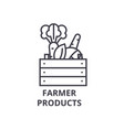 farmer products line icon outline sign linear vector image vector image