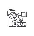 financial forecast line icon concept financial vector image