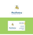 flat grapes logo and visiting card template vector image