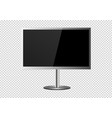 frame of tv empty led monitor of computer or vector image vector image