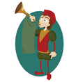 Funny Herald with Trumpet vector image vector image