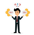 funny trader character vector image vector image