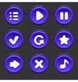 GameUiElements10 vector image vector image