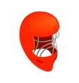 Goalkeeper hockey helmet isometric icon vector image vector image