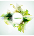 Green banner vector image vector image