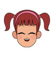 happy young girl icon image vector image vector image