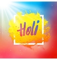 Holi festival colorful background vector image vector image