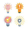 ideas bulb icons brainstorm symbol innovative vector image