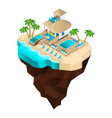 isometrics rest on beach banks river vector image