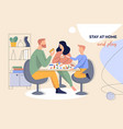 leaflet layout with concept family time and vector image vector image