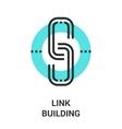 link building icon vector image vector image