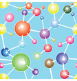 Molecule seamless communication background vector image vector image