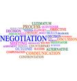 Negotiation word cloud vector image vector image