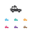 of trip symbol on jeep icon vector image