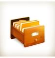 Open card catalog vector image