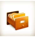 Open card catalog vector image vector image