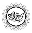 patrick day round frame vector image