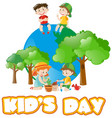 poster design for kids day vector image