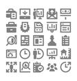 Project Management Icons 1 vector image vector image