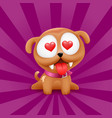 puppy in love character sitting vector image