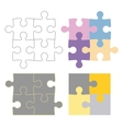 Puzzle constructor vector image