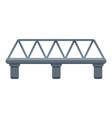 railway bridge icon cartoon style vector image vector image