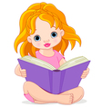 Reading girl vector image vector image