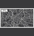 rome map in retro style hand drawn vector image vector image