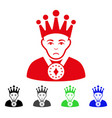 sad king icon vector image vector image