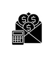 salary black icon sign on isolated vector image vector image