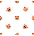 seamless pattern of cartoon cat on white vector image
