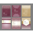 set of templates in arabic vector image vector image