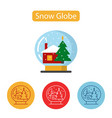 snow globe icon simple house sign vector image vector image