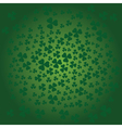 St Patrick day background in green colors vector image vector image