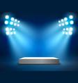 stage podium with light presentation pedestal
