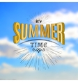 Summer time badges logos and labels for any use vector image